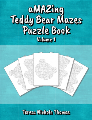 aMAZing Teddy Bear Mazes Puzzle Book Volume 1 Cover
