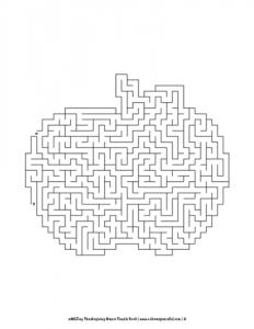 aMAZing Thanksgiving Mazes Puzzle Book Volume 1 Pic 06